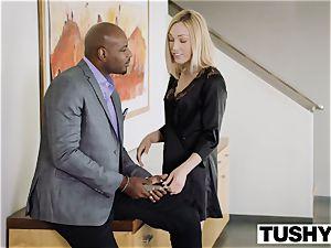 TUSHY fat ebony man-meat spreads wifes anus