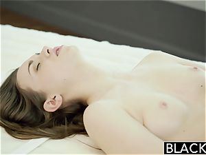 BLACKED Tali Dovas boyfriend Lets her attempt A humungous black sausage