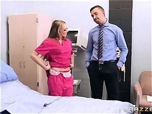 sloppy nurse Shawna Lenee fucks a docs large spunk-pump