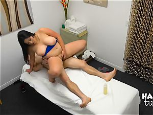 Hidden camera massage sofa hook-up