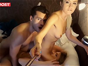 Russian babe gets pro hump to help her sleep