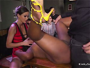 ebony marionette porked and urinated in public