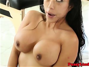 Bigtitted chinese super-bitch plumbed tough from behind