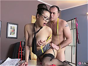 fat titted asian tailor fulfills her client fragile dreams