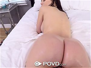 POVD new view for ample trunk tonguing Lana Rhoades