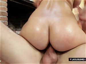 LASUBLIMEXXX Connie Carter gets lubricated up and boned