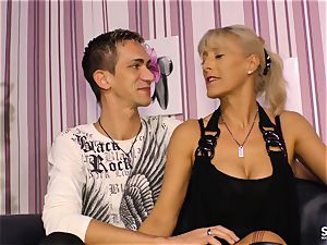 SexTapeGermany - German lovemaking tape with towheaded cougar