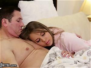panicked teenage pleads Stepdaddy to Sleep in His sofa