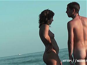 An excellent spy webcam naked beach hidden cam movie