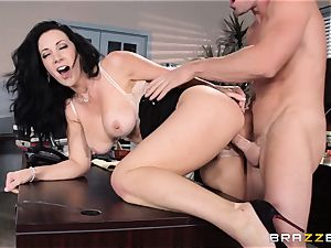 assistant Jayden Jaymes humps on the bosses desk