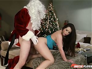 Lola Foxx gives Santa his Christmas present