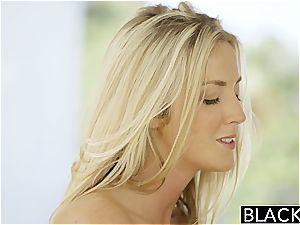 BLACKED jaw-dropping blond Karla Kush likes caressing big black cock