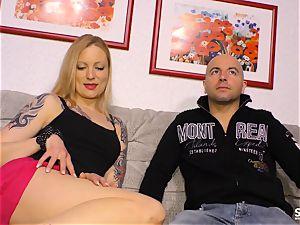 Sextape Germany - blondie German novice sucks and screws