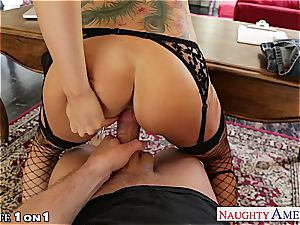 Alluring Romi Rain gets her trimmed snatch humped
