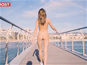 Russian babe Gets penetrated hard-core By The Seaside