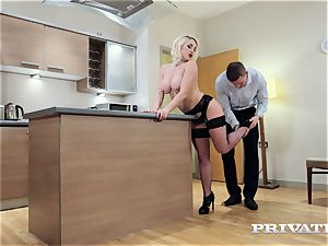 Private.com huge-chested Victoria Summers boinks in stocking