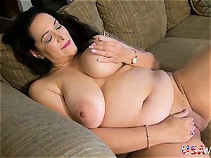 USAwives buxomy obese Mature Solo masturbation