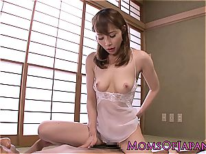 japanese princess with a furry puss caked in jizm