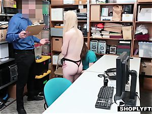 light-haired girlfriend gets punished in front of her dummy bf
