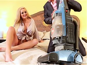 ash-blonde housewife Summer bangs sexy salesman Lily