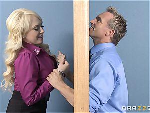 blonde assistant Kagney Linn Karter romping her insane accomplice