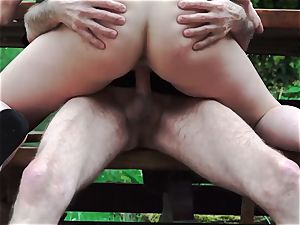 grandfather ravages nubile On Rainy Day munches her tight honeypot