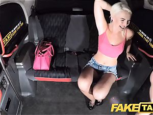 fake taxi fabulous blonde in tight jeans shorts