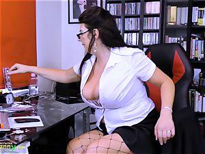 OldNannY huge-boobed grannie Lulu chubby Solo masturbation