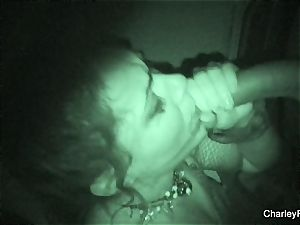 Night vision banging with super molten Charley pursue