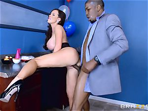 Elections and immense ebony manhood erections for Nikki Benz