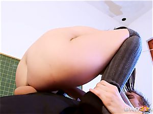 schoolgirl Dolly Diore ravaging her yam-sized dicked schoolteacher