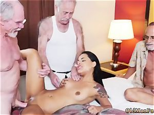 parent boinks playmate playfellow s sons-in-law damsel and senior duo seduce youthful Staycation with a