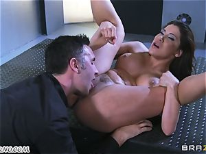super-sexy mature tramp Nicole Aniston with immense breasts gets buttfucked and blasting