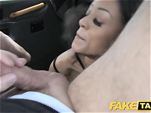 fake cab mind-blowing young black female in bodysuit