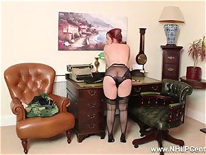 ginger-haired is antique nylon fetish hoe at jerk Off Club