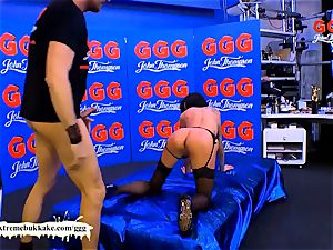 double intrusion Warm-up with Stella starlet