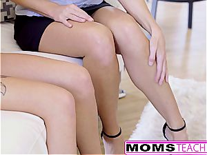 MomsTeachSex - mommy astonished son With three way Part two