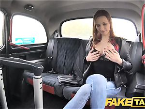 fake taxi slender red-haired luvs raunchy hookup