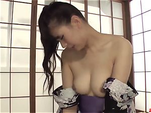 nasty cougar Yui Oba loves rigid hookup with younger dude