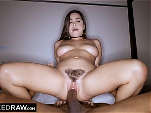 BLACKEDRAW Latina wifey dumps with 12 inch monster black manmeat