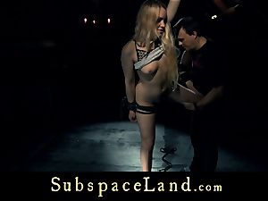 sub doll ash-blonde pleasured and disciplined in subjugation