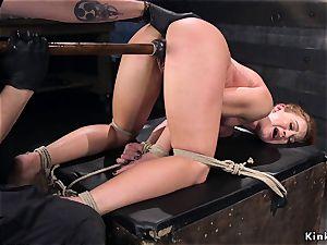 tied like a hog stunner vag boned with fake penis
