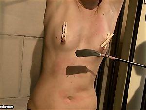 Kathia Nobili slap a jaw-dropping honey in the bum