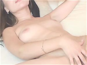 super-fucking-hot adorable stunner unclothes and masturbate on webcam