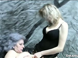 insane grannies in Lusty pornography sequences