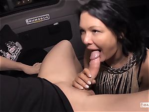 backsides BUS - Bus drill and facial cumshot with huge-chested German mummy