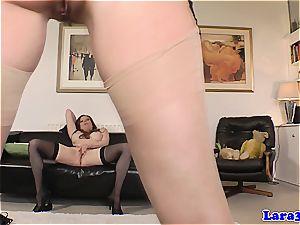 English princess in underwear makes g/g enjoy on the floor