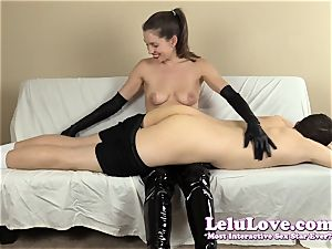 female dom smacking his ass with my hairbrush hands..