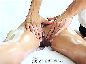 magnificent Latina Chloe Amour finishes off rock hard after massage