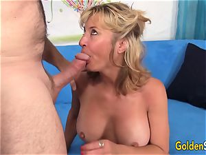 Mature Sky Haven and her mature mate tear up